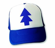 DIPPER HAT Gravity Falls Cartoon BLUE PINE TREE Adjustable Trucker Cap COMIC CON