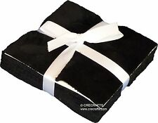 Simply Black Minky Fabric 5 Inch Cuddle Charm Pack from Shannon Fabrics