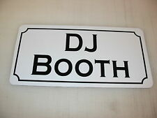 DJ BOOTH Metal Sign Dance Club Bar Game Room Pool Hall Table Golf Event DJ