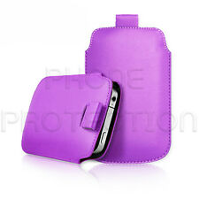 LEATHER PULL TAB SKIN CASE COVER POUCH FOR VARIOUS PHONES