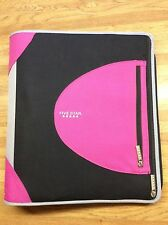 "Five Star 2"" Zipper Binder 3 Ring Binder 530 Sheet Capacity Black/Pink"