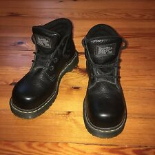 Dr. Martens STEEL TOE Black Leather Safety Shoe Boots Size UK 6 EUR 39 Perfect!