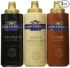 Ghirardelli Squeeze Bottles - Caramel & Chocolate & White Chocolate - Set of 3