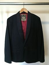 7 For All Mankind Men's Black Tuxedo Jacket