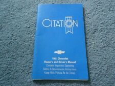 1982 CHEVROLET CITATION OWNERS MANUAL FACTORY ORIGINAL 14042958A GOOD OEM