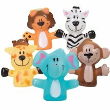 animal finger puppets zoo educational party bags  x 5
