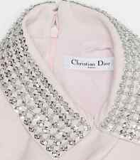 Christian Dior Baby Pink Silk Dress, Silver Sequined Collar by Raf Simons