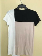 NEW Vince Color Block short sleeve Tee Shirt top Size XS  $85 Bloomies Neimans
