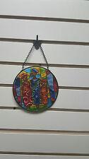 "Collectible Stained Glass Suncatcher ""Family Together""/ African American Art"