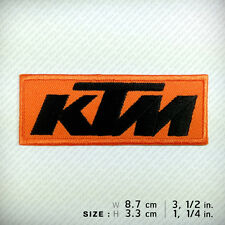 New KTM EMBROIDERED PATCH IRON ON, OFF ROAD Motorcycles Sport Racing Street DUKE