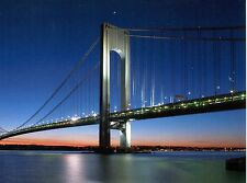 POST CARD OF THE VERRAZANO-NARROWS BRIDGE AT SUNSET