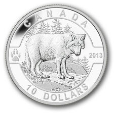 2013  1/2oz RCM 999 Silver Coin The Wolf in air-tite capsule, COA and Case