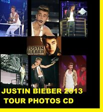 ★★ JUSTIN BIEBER BELIEVE CONCERT TOUR LIVE 2013 650 PHOTOS CD  ★★