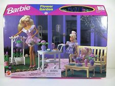 NIB  BARBIE DOLL1996 FLOWER GARDEN PLAYSET  SALE! MORE BARBIES OUR STORE