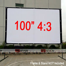 100 Inch 4:3 White Projection Screen Film for Any Home Theater HD LED Projectors