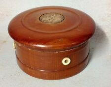 Antique Sewing Thread Box Treen turned wooden box