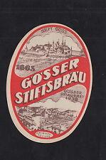 Ancienne étiquette Alcool Bière Allemagne  BN10040 Gösser Chateau 1933