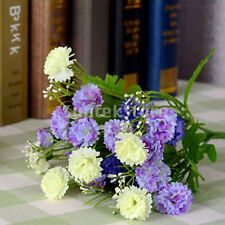 Artificial Carnation 23-Head Silk Flowers Bouquet Wedding DIY Decor Blue