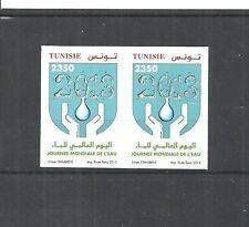 2013 - Tunisia- Imperforated pair- World Water Day- La journée mondiale de l´eau