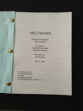MELTDOWN Original Screenplay Copy 4/2/95 Rare JOHN CARPENTER Project UNPRODUCED