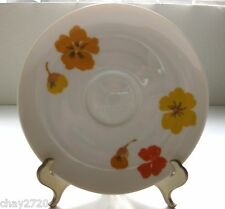 "PRE-OWNED SUISSE LANGENTHAL SAUCER ""YELLOW & ORANGE FLOWER"", SWITZERLAND"