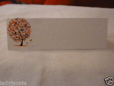 50 Wedding Seating Place Cards for your Guest Names - Autumn Tree Design