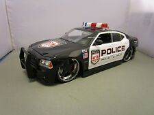 JADA 1/18 BIGTIME MUSCLE POLICE 2006 DODGE CHARGER R/T HEMI USED NO BOX *READ*
