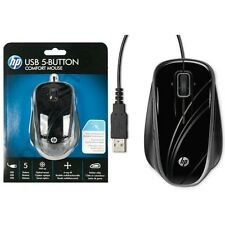 HP BR376AA Comfort 5-Button USB Scroll Optical Mouse--Brand NEW SEAL