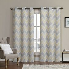Marlie Woven Jacquard Insulated Blackout Curtain (Pair)