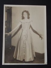YOUNG GIRL IN JUNIOR PROM OUTFIT Vtg 1940's PHOTO