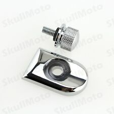 Chrome Seat Bolt Tab Screw Mount Knob Cover Kit F Harley Sportster Dyna Touring