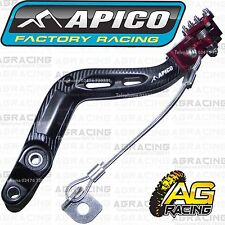 Apico Black Red Rear Foot Brake Pedal Lever For Beta 250 RR Enduro 2010-2016