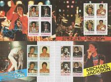 Lot de quatre michael jackson st. vincent imperforated timbre pvc