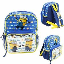 "Despicable Me 2 Minion Kids 10"" Mini School Backpack Book Bag Licensed New"