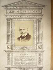 M. DE METZ  GRAVURE 1874 AVEC PHOTO ORIGINALE COLLÉE