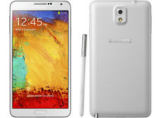 "Unlocked 5.7"" White Samsung Galaxy Note 3 4G LTE Android GSM Smartphone 32GB ^"