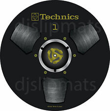 PAIR (2) Ltd.Ed Technics Japan Reel to Reel RS-1700 DJ Slipmats slipmat BLACK