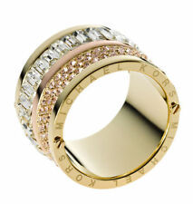 MICHAEL KORS MKJ1907 Pave Two-Tone Barrel Ring MKJ1907 Size 6