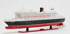 "RMS Queen Mary II Cruise Ship Assembled 40"" Built Ocean Liner Wooden Model Boat"