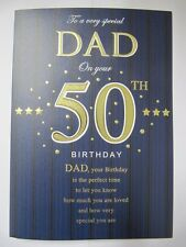 STUNNING TOP RANGE LOVELY WORDS SPECIAL DAD ON YOUR 50TH BIRTHDAY GREETING CARD