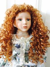 "26"" Heritage Signature Collection Porcelain Doll W/COA, Stand, Box And Parasol"