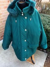 NEW WOMAN WITHIN PLUS SIZE MICROFIBER DOWN COAT JACKET  PARKA  GREEN 2X