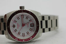 Womens Zodiac Sea Dragon ZO2279 Pink Bezel Steel Watch New Batt