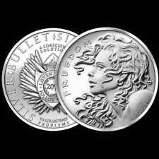 2013 1 OZ SILVER COIN FREEDOM GIRL SILVER BULLET SILVER SHIELD SBSS *AIRTIGHT*