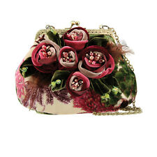 Mary Frances Rosette Mini Floral Flower Bag Handbag