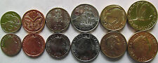 New Zealand set of 6 coins 2000-2008 (5+10+20+50 cents+1+2 dollars) UNC