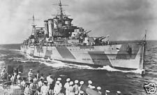 ROYAL NAVY COUNTY CLASS HEAVY CRUISER HMS DEVONSHIRE FROM HMS MAURITIUS - 1943