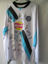 Leicester 2005-2006 Match Worn Squad Signed Football Shirt COA  /13749