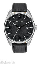 New 2015 Nixon Watch The Bullet Leather black Womens Mens NX21