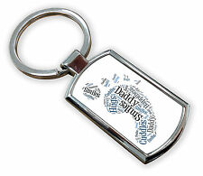 New Daddy Foot Metal Keyring HD With Gift Box Christmas Gift 1ST CLASS POST
